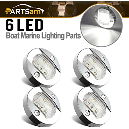 LED Marine Boat Yacht RV Stainless Steel Anchor Stern Light 12V Water-proof