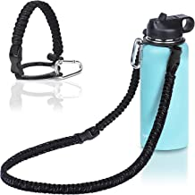 Wongeto Paracord Handle Carrier Holder with Shoulder Strap(Fits 12oz - 64oz Hydro Flask Wide Mouth Water Bottles, Nalgene,...