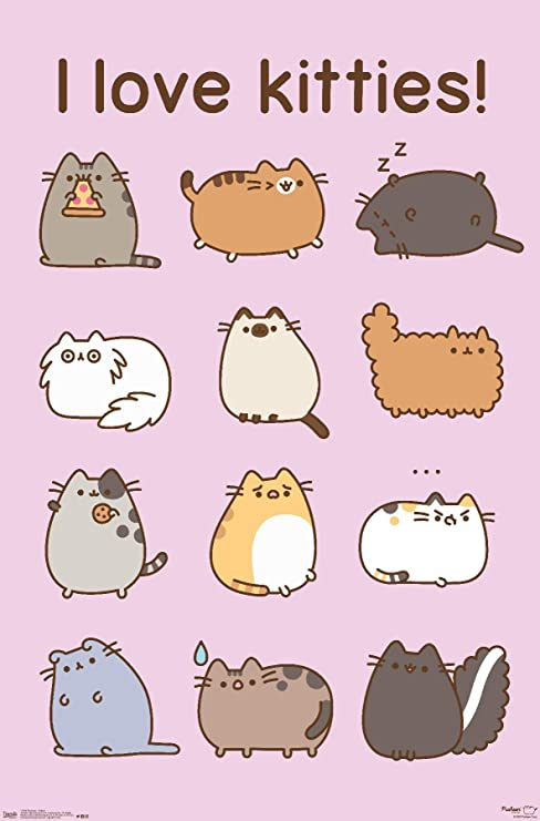 Amazon Com Trends International Pusheen Kitties Wall Poster 14 725 X 22 375 Premium Unframed Version Home Kitchen