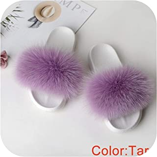 plage Furry Slides Women's Slippers Home Summer Flip Flops Woman Furry Slippers Ladies Female Shoes Fluffy 2019 Sandals White