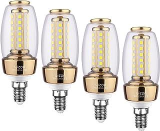 YIIZON LED E14 9W vela bombillas, 80W bombilla incandescente equivalente, candelabro LED bombillas, 6000K Blanco Frío, 900 lm, CRI>80+, no regulable (4 Packs)