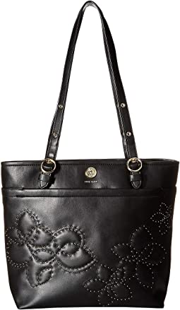 Quilted Stud North/South Tote