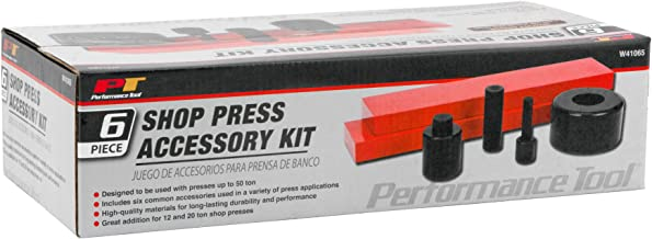 Performance Tool W41065 6 Piece Shop Press Accessory Kit, Used with Presses Up to 50-ton