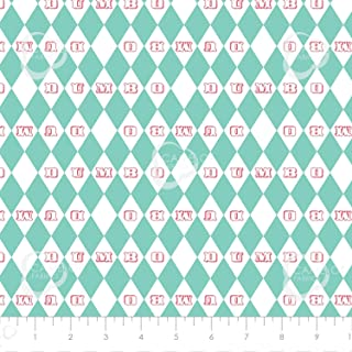 430030bb530 Disney Fabric Dumbo Fabric Vintage Argyle in Turquoise 100% Premium Quality Cotton  Fabric by The