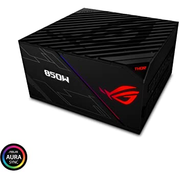 ASUS ROG Thor 850 Certified 850W Fully-Modular RGB Power Supply with LiveDash OLED Panel