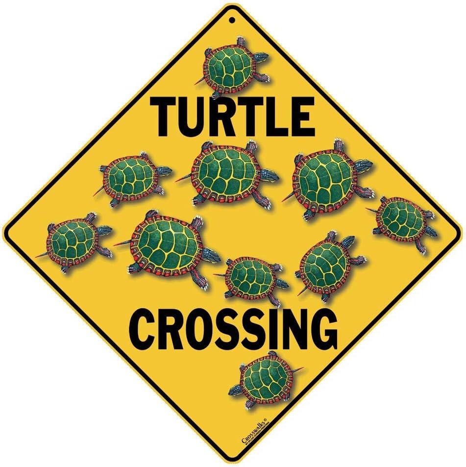 CROSSWALKS Turtle Max 47% OFF Crossing Sign - Aluminum 12
