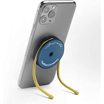 IMStick Magnetic Cell Phone Stands - Holder for Desk Home Office Kitchen Bedroom Gym Laptop Car Bike and Over 100 Use Cases - Phone Grip with Wires - Great Accessory for a Gift - Patented in The USA