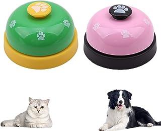 Mein HERZ 2-pack husdjursträningsklockor, hundträningsklocka, husdjursträningsklockor skrivbordsklocka för hund katt potta...