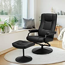 swivel reclining chair with footrest