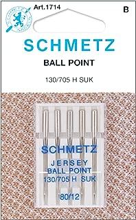 Schmetz 1714C Ball Point Jersey Machine Needles,  Size 80/12, 5-Pack