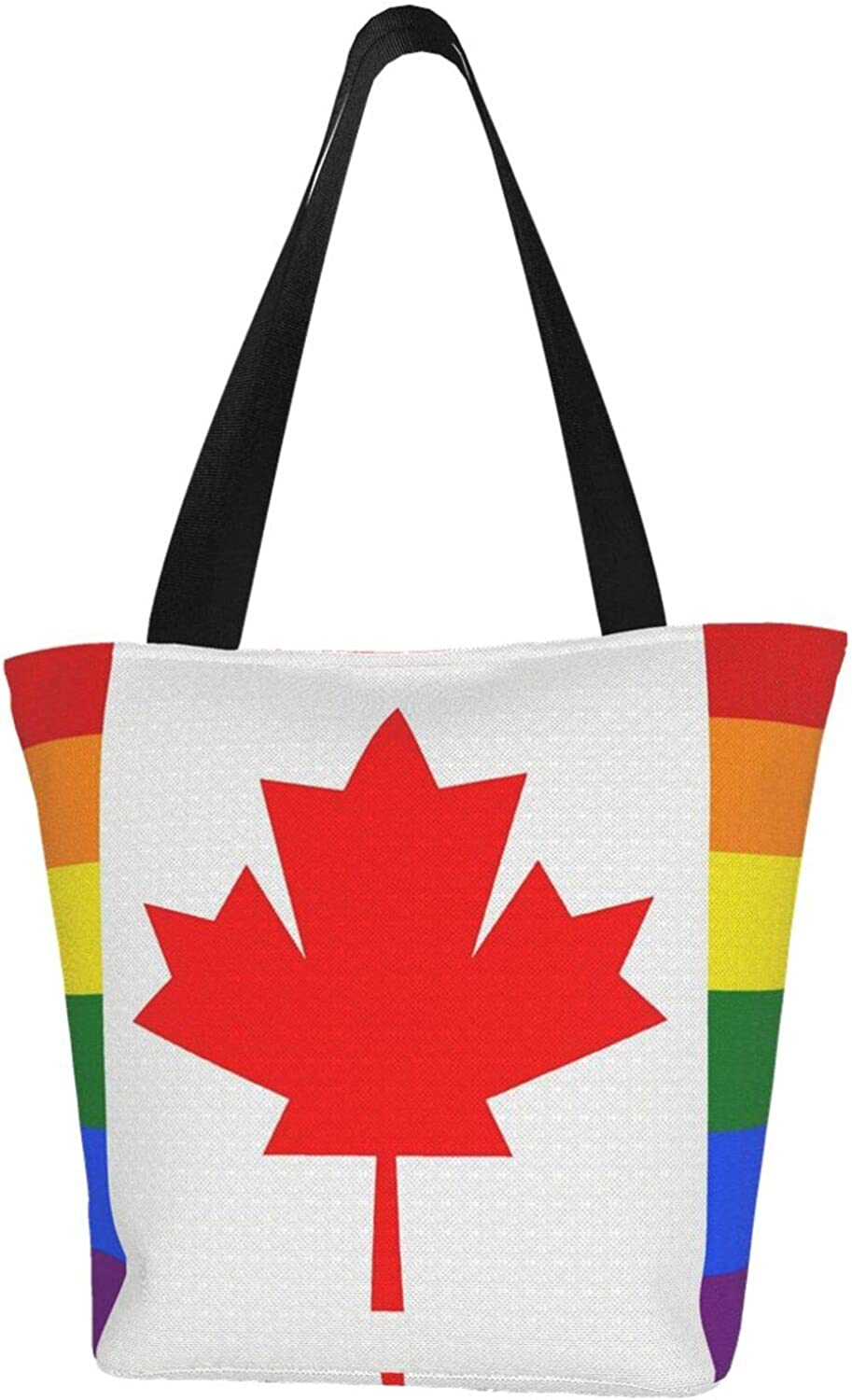 Canada Today's only Gay Flag Pride Themed Handbag Women Limited time cheap sale Canvas Zipper Printed