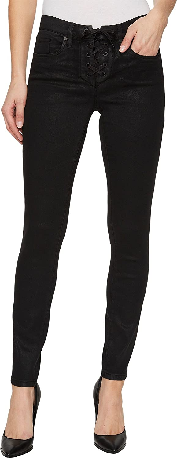 [BLANKNYC] Blank NYC Womens LaceUp Skinny in Smoked Out