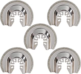 HIFROM Replacement Diamond Grout Removal Blade,2-1/2-Inch(64mm) Multi Tool Quick Realease Oscillating Saw Blade fit for Bosch, Craftsman, Chicago, Cougar, DeWalt and more (Pack of 5)