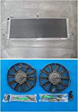 Aluminum Air to water intercooler heat exchanger + Fans For TOYOTA MR2 SW20 3S-GTE