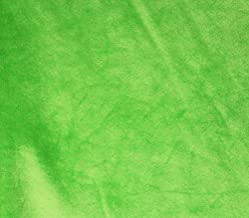 """Minky Solid Blanket Fabric 60"""" Wide Sold by The Yard (Lime)"""