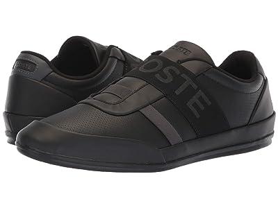 Lacoste Misano Elastic 318 2 U (Black/Dark Grey) Men