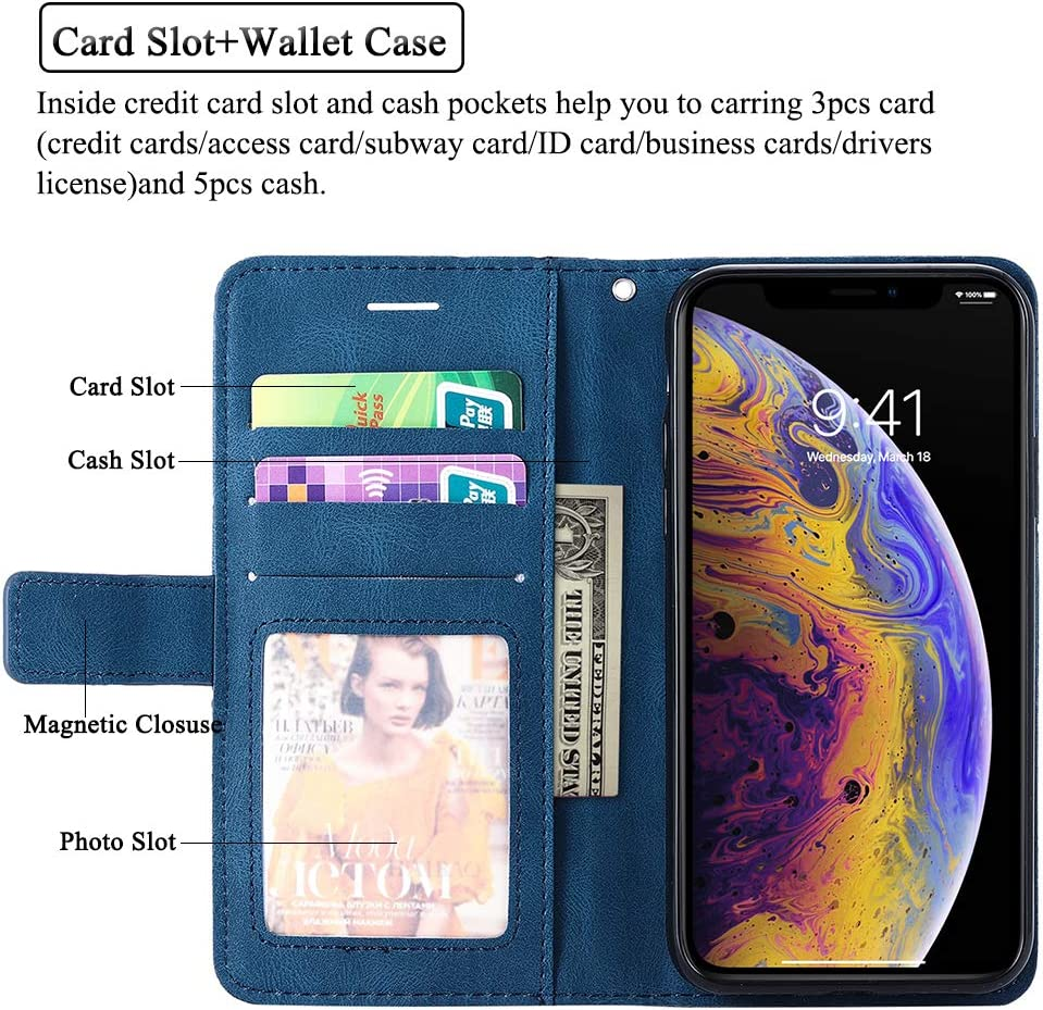 Asuwish iPhone X//XS Wallet Case Leather Flip Folio Phone Case with Screen Protector Tempered Glass Kickstand ID/&Credit Card Holder Slot Protective Cover for Apple iPhoneX iPhoneXs iPhone10 Black