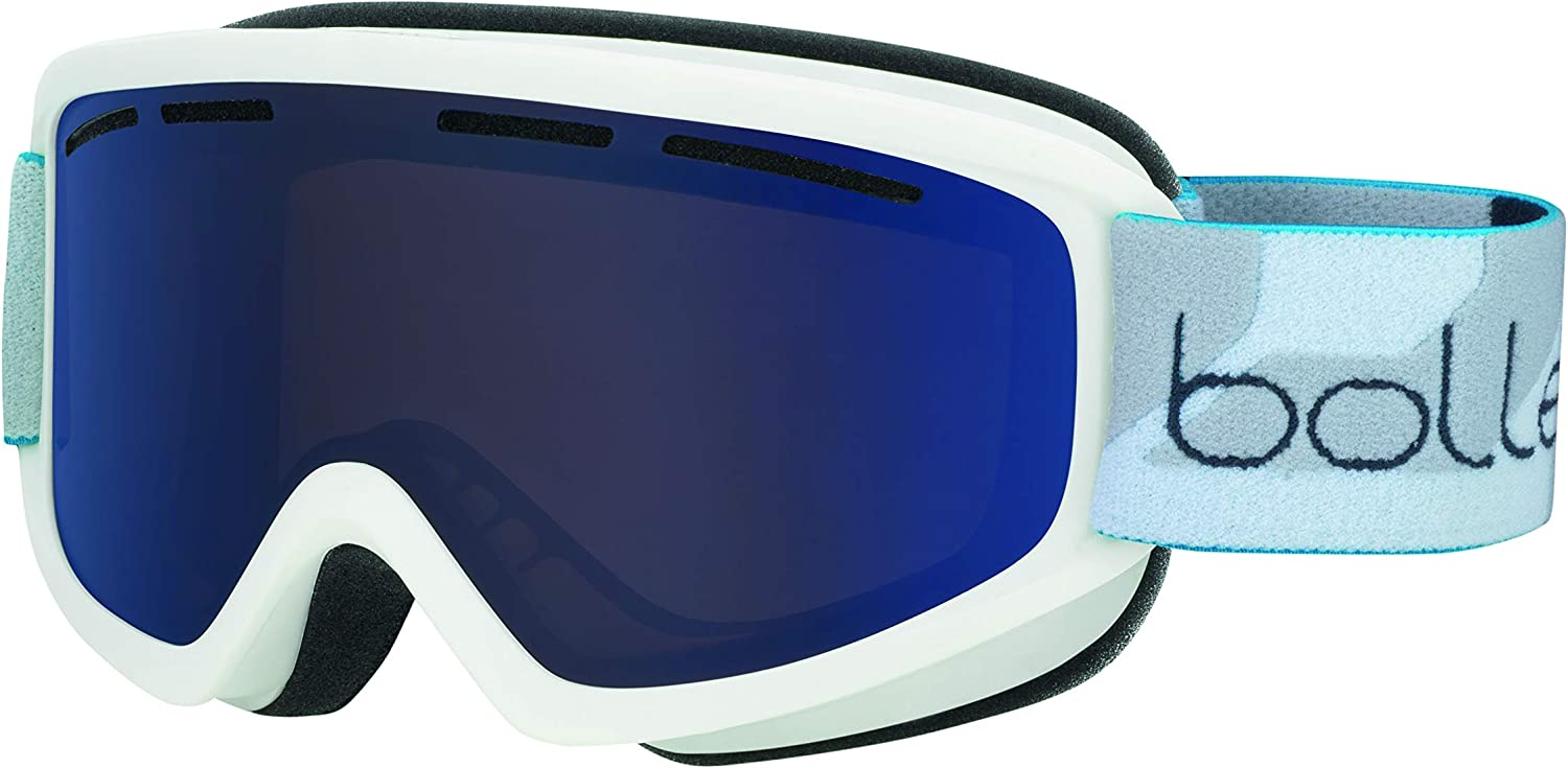 Bolle Schuss Bronze bluee, Matte White, Medium