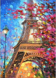 Diamond Painting Kits for Adults Kids, 5D DIY Eiffel Tower Diamond Art Accessories with Round Full Drill for Home Wall Decor - 11.8�15.7Inches