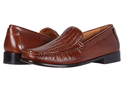 Johnston & Murphy Stoltz Woven Venetian (Tan Full Grain) Men