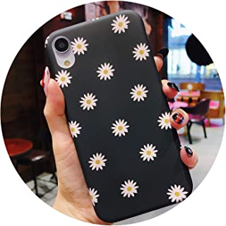 Phone Case for iPhone X XR XS Max 8 7 6 6s Plus Cute Daisy Flower Magnolia Ultra Thin Frosted Hard PC Back Cover Cases,6196,for iPhone 8