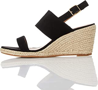 Amazon Brand - find. Women's Suede Leather Wedge Heel Espadrille Shoes