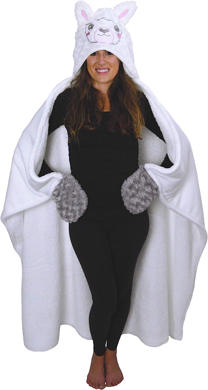 3. Llama Wearable Hooded Blanket