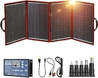 DOKIO ソーラーパネル 200w セット 折りたたみ式 単結晶 太陽光発電キット ポータブル電源 バッテリー充電用 USB(18V)出力端子 防災グッズ 車中泊 キャンプ アウトドア用