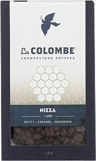LA COLOMBE, Coffee, Whole Bean, Nizza, Pack of 8, Size 12 OZ, (Dairy Free Wheat Free Yeast Free)