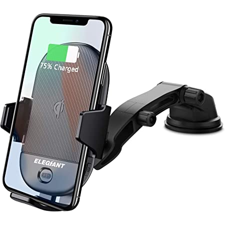 10W Wireless Charging Compatible Galaxy S10//S10Plus//S9 7.5W Mode Compatible with iPhone 11//11 Pro //11 Pro Max//XS MAX//XR//XS,5W- Qi-Enabled Phones Mpow CD Slot Phone Holder Qi Fast Wireless Charger