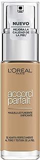 L'Oréal Paris Accord Parfait, Base de maquillaje acabado natural con ácido hialurónico, tono piel medio-oscuro 6N, 30 ml