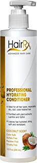 HairRx Professional Hydrating Conditioner with Pump, Coconut Scent, 10 Ounce
