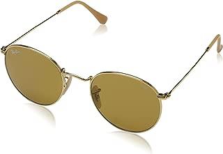 RB3447 Evolve Round Metal Sunglasses, Gold/Brown Photochromic, 50 mm