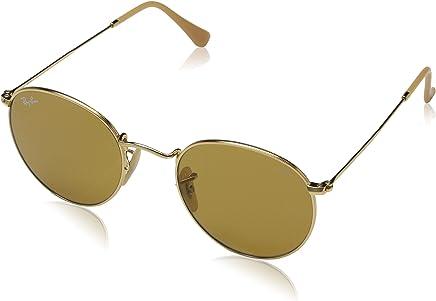 Ray Ban Erkek Güneş Gözlükleri 0RB ROUND METAL 90644I 50, GOLD\PHOTOBROWN,