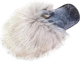 DAIFINEY Damespantoffels, warm en comfortabel, knuffelig, voor binnen en buiten, antislip