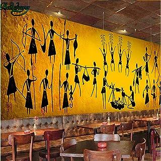 Mural Póster En 3D Pared De Aparador Del Restaurante Del Bar Principal Egipcio Vintage Personalizado 274X254Cm