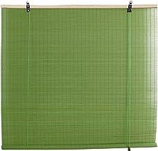 Rolgordijn bamboe jaloezieën, groen bamboe rolgordijn, zonnescherm gordijn voor terrassen, binnenscheidingsdecoratie, aanp...