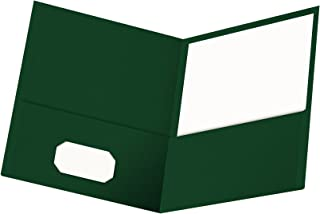 Oxford Twin-Pocket Folders, Textured Paper, Letter Size, Hunter Green, Holds 100 Sheets, Box of 25 (57556EE)