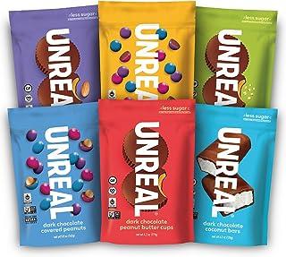 Sponsored Ad - UNREAL Complete Vegan Variety Pack | Less Sugar, Fair Trade, Non-GMO | 6 Bags