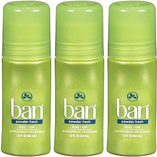 Ban Roll-On Deodorant, Powder Fresh - 1.5 oz - 3 pk