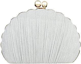 Bolso de noche con forma de concha, diseño de moda, bolso de mano para damas de boda, fiesta, teléfono celular, cartera para mujer