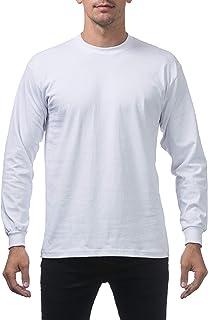 Pro Club Men`s Heavyweight Cotton Long Sleeve Crew Neck T-Shirt