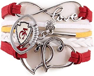 TheCreativeGene Love Kansas City Chiefs Charm Bracelets