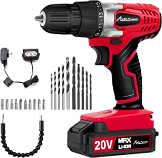 Best AVID POWER 20V MAX Lithium Ion Cordless Drill, Power Drill Set with 3/8 inches Keyless Chuck, Variable Speed, 16 Position and 22pcs Drill Bits Reviews