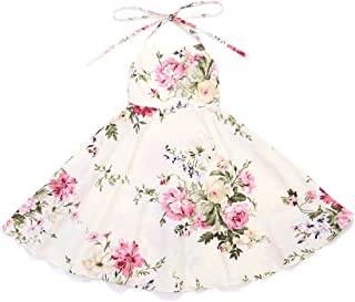 Vintage Floral Girls Dress for 1-12 Years Old Party Toddler Sundress