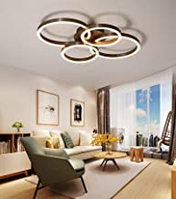 Jaycomey LED Ceiling Light,Modern Acrylic Ceiling Lighting Fixtures 90W Flush Mount Ceiling Lamp, Surface Mounted 2+2 Ring...