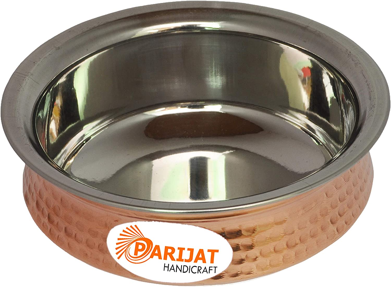 PARIJAT HANDICRAFT Serving Cheap super special lowest price price Bowl Tureen Copper Stainless Steel Se