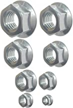 SNUG Fasteners (SNG274) 385 Qty Assorted SAE Standard Zinc Plated Serrated Flange Hex Lock Nuts