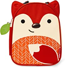Skip Hop Zoo Kids Insulated Lunch Box, Ferguson Fox, Red