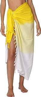 Swimwear Long Dip Dye Tie Sarong Multi Wear Beach Pareo Swimsuit Wrap Cover Up Beach Wrap for Women